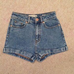 Pacsun Blue Denim Mom Shorts